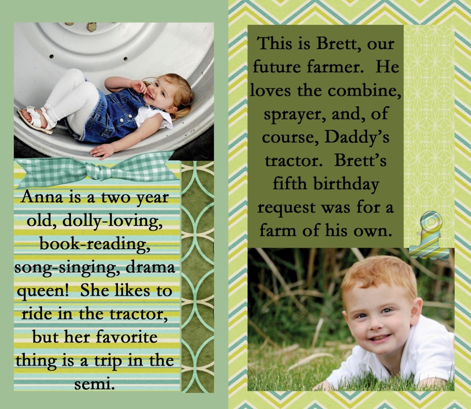 Daddy's Tractor, learning experiences for kids about life on the family farm