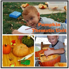 Pumpkin thematic unit for preschool, kindergarten, and 1st grade.  {DaddysTractor.com}