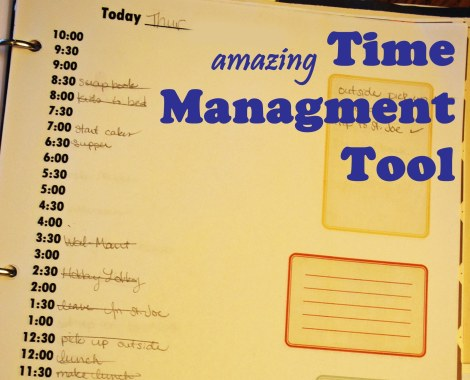 Great idea for managing your time!