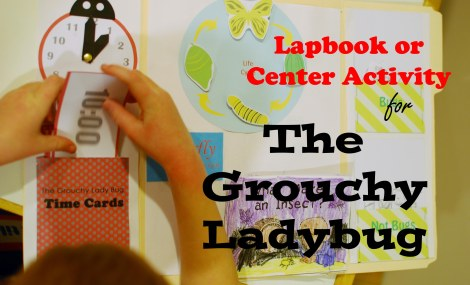 The Grouchy Ladybug lapbook or center activity {DaddysTractor.com}