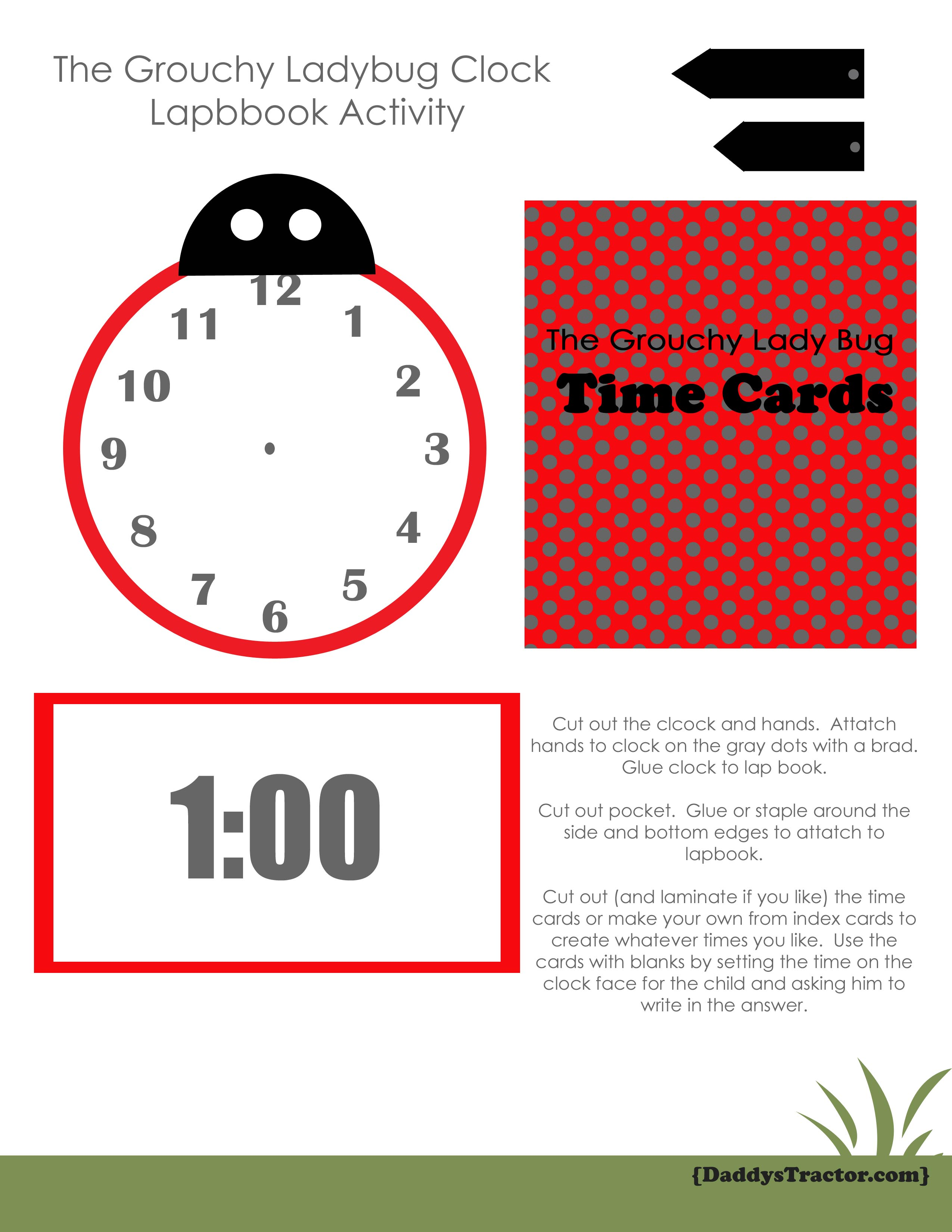 Grouchy Ladybug Insect Activity or Lapbook | Daddy's Tractor