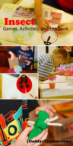 Insect thematic unit—activities and printables {DaddysTractor.com}