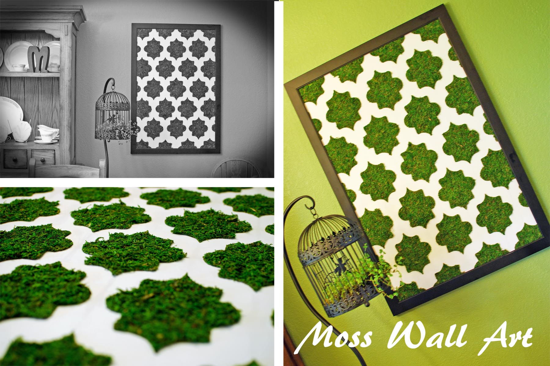 Dorable Living Moss Wall Art Diy Illustration Wall Painting Ideas