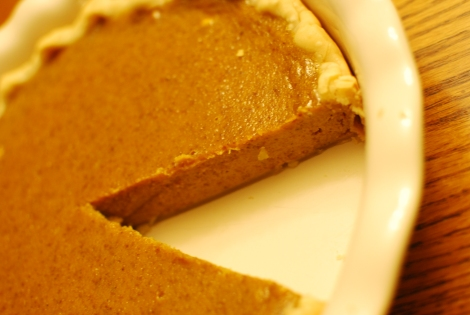 After five attempts this girl finally found the perfect pumpkin pie!