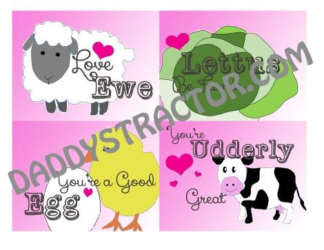 Farm Themed Valentines