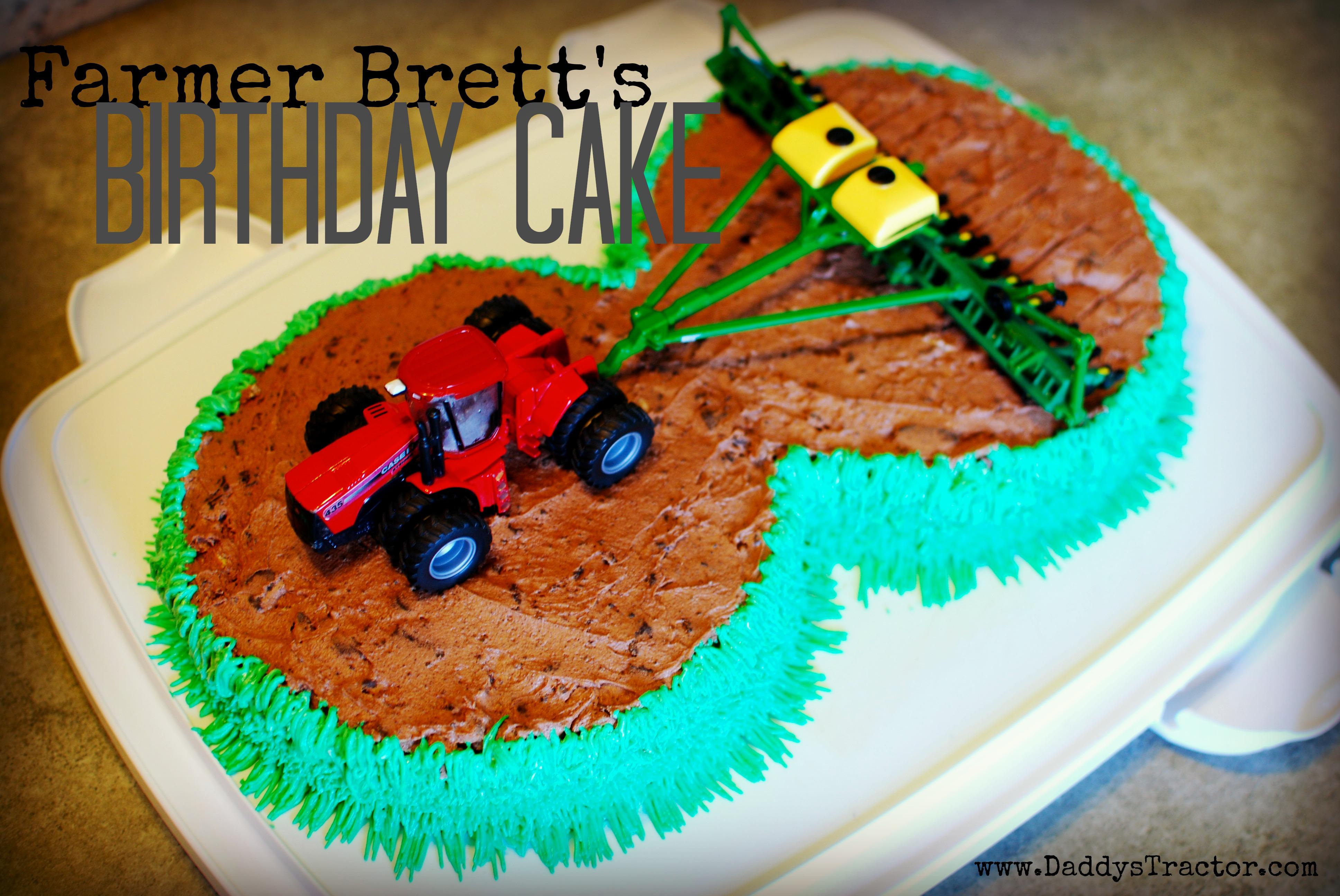 Farmer Brett Birthday Cake Daddys Tractor