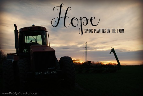 Everyone gets excited about spring planting on the farm!  {DaddysTractor.com}
