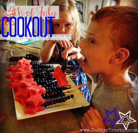 What does your 4th of July cookout cost?