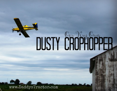 A crop duster visits the farm!