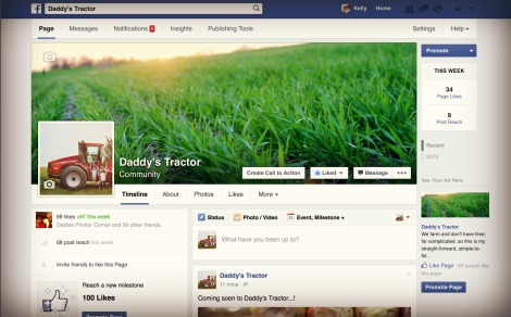 Daddy's Tractor now had it's own Facebook page!