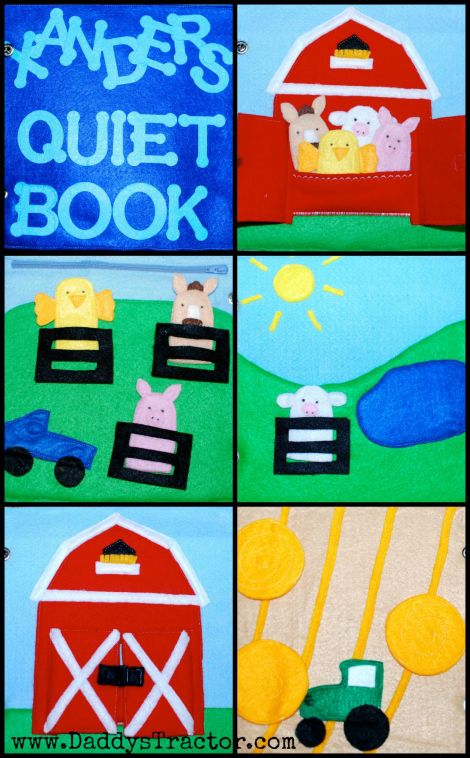 "Ideas for ""On the Farm"" quiet book from felt."