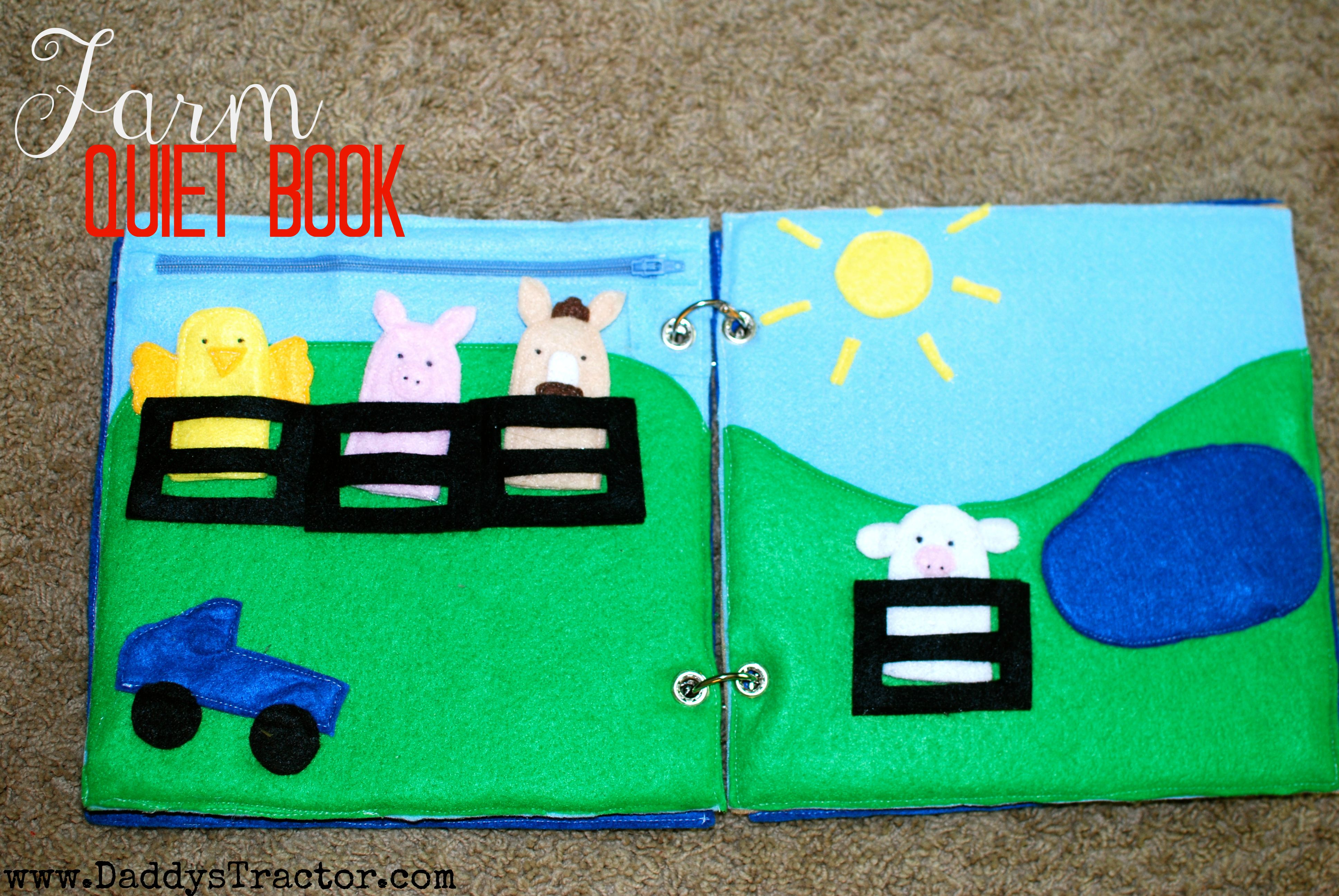 On the Farm Quiet Book | Daddy's Tractor